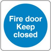 Mandatory Safety Sign - Fire Door Keep 051